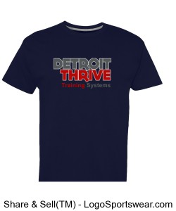 Detroit Thrive t-Shirt Center Logo Design Zoom
