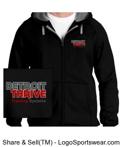 Thrive Full Zip Sweat Shirt Design Zoom